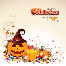Halloween Background With Jack...