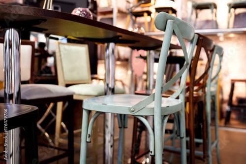 Foto op Plexiglas Retro Vintage chair in Bar interior