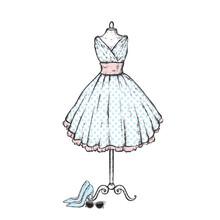 A Stylish Vintage Dress, High ...