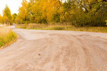 Dirt Road In The Autumn