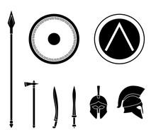 Set Of Ancient Greek Spartan W...