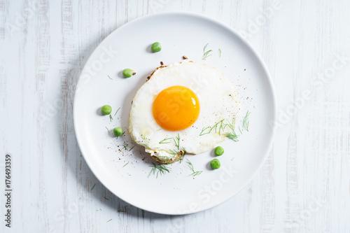 Plakat tosty z jajek