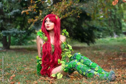 Fotografie, Obraz  Ceper hero Female character, poison ivy, cosplay