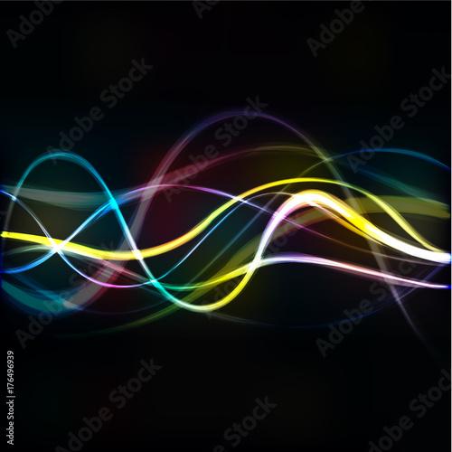 Staande foto Fractal waves fond abstrait