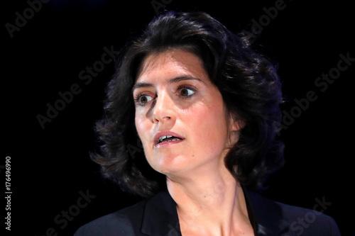 Christel Heydemann, head of Schneider Electric France, attends the