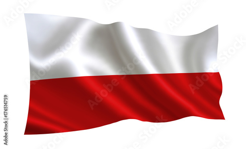 Plakat Flaga Polski. Seria flag świata.