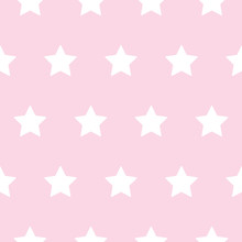 Baby Star Pattern White On Pink