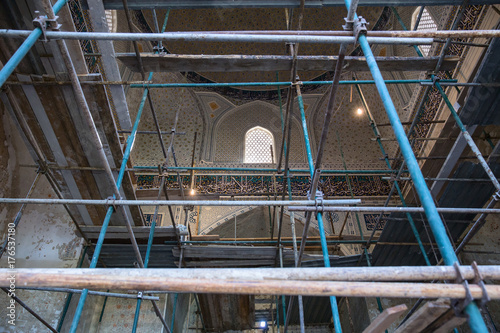 Foto op Canvas Monument Restoration of the interior of the mosque Bibi Khanym