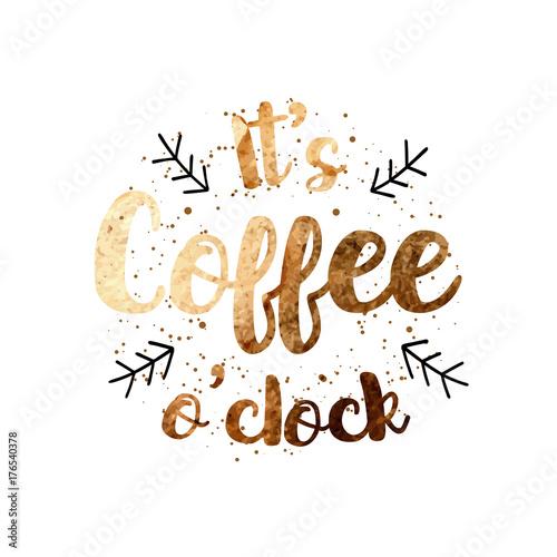 wektor-quot-it-39-s-coffee-o-39-clock-quot-projekt-etykiety-cytat-z-recznie