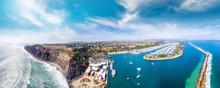 Dana Point, California. Aerial View Of Beautiful Coastline