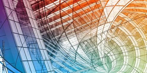 Fotografie, Obraz  Abstract Building
