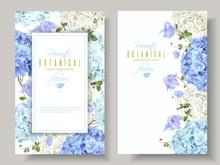 Hydrangea Banners Blue
