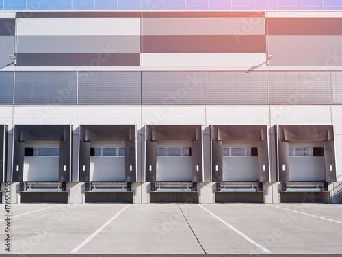 Industrial building and warehouse, cargo doors