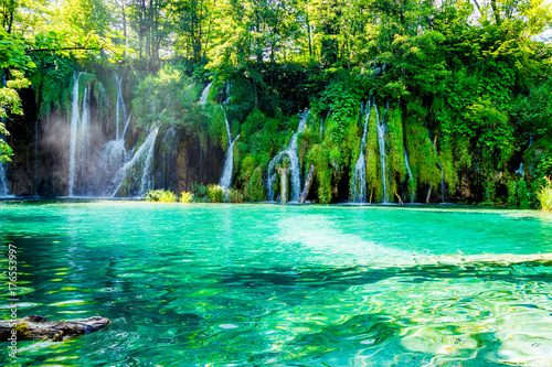 Spoed Fotobehang Groene Idyllic place in the National Park in Croatia