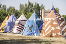 Medieval Tents Next To A Field...