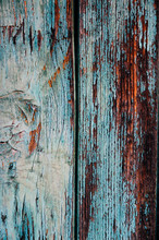 Old, Grungy, Colorful Wood Bac...