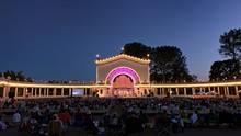 Music Concert At The Spreckels Organ Pavillion At Night In Balboa Park, San Diego, California