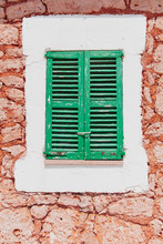 Window With Colorful Green Woo...