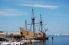 The Mayflower II At Plymouth, Massachusetts, USA.