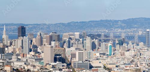Obraz na dibondzie (fotoboard) Panorama centrum San francisco