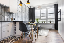 Modern Small Room With  Kitchen