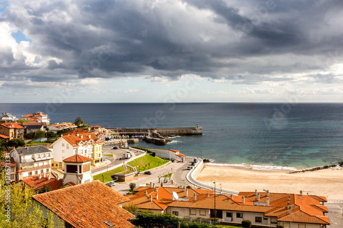 Foto op Aluminium Zalm Vista desde mirador del puerto de Comilla