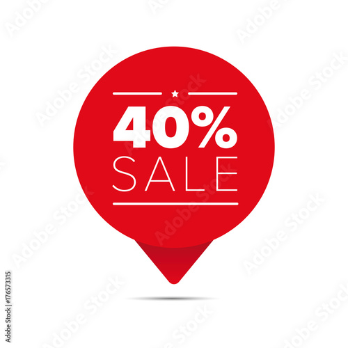 Fourty percent sale offer tag Wallpaper Mural
