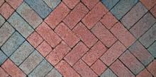 Brick Street Mosaic For Background Or Design Element