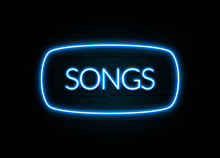 Songs  - Colorful Neon Sign On...