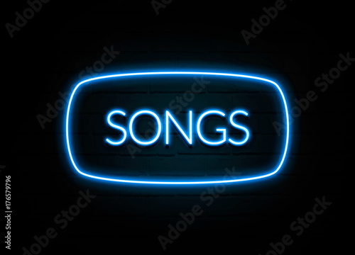 Láminas  Songs  - colorful Neon Sign on brickwall