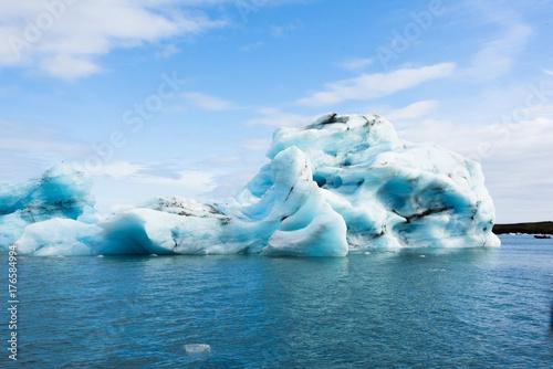 Plakat Jokulsarlon lodowiec laguny w Islandii