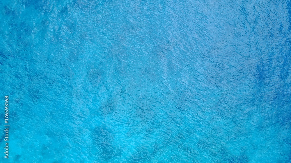 Fototapety, obrazy: P02679 Aerial flying drone view of Maldives white sandy beach abstract waves water surface texture on sunny tropical paradise island with aqua blue sky sea ocean 4k