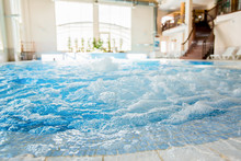Waves And Splashes In Warm Spa...