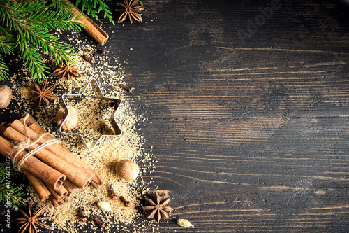 Foto op Canvas Kerstmis Christmas spices