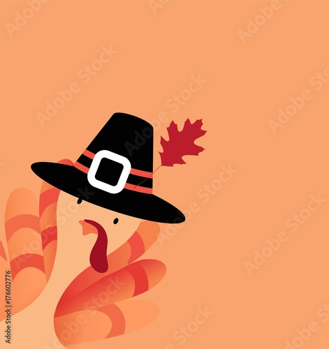 Vászonkép  Happy Thanksgiving cartoon poster