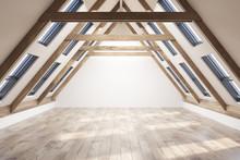Empty Attic Room Interior