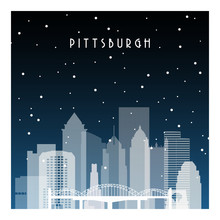 Winter Night In Pittsburgh. Ni...