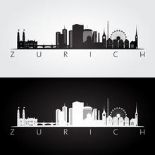 Zurich Skyline And Landmarks S...