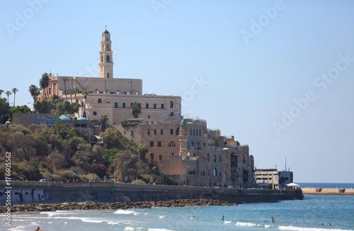 Zdjęcie XXL Widok Jaffy z nabrzeża Tel Awiwu