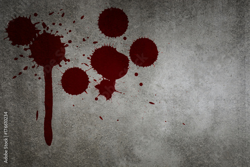 Blood Stain On Grunge Wall Texture Background With Copy Spacee For Horror Halloween Design Wall Mural Sirins Wall blood blood wall wall brick element decoration background decorative backdrop vector background decor brick wall texture vintage elements surface ornament artistic template symbol scenery textured frame icon retro vector other grunge classic red walls style bright classical emblem. blood stain on grunge wall texture background with copy spacee for horror halloween design wall mural