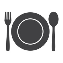 Fork Spoon And Plate Icon