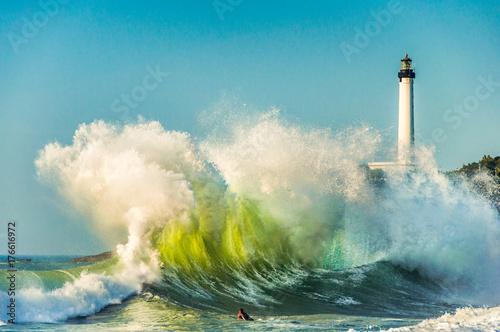 Huge wave in Biarritz, France Wallpaper Mural