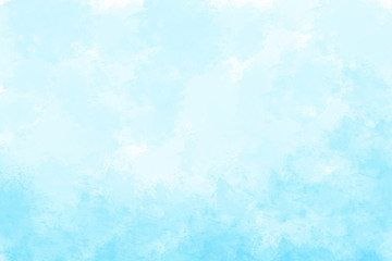 FototapetaBlue watercolor background. Digital painting.