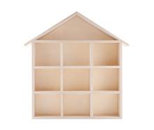 Wooden House Shaped Shelf Isol...