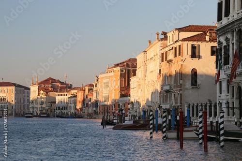 Plakat starożytny pałac w Grand Canal w Wenecji