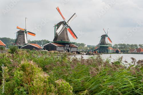 Zdjęcie XXL Wiatraki w Zaanse Schans, Holandia