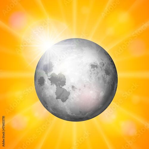 Fototapeta Tło księżyca