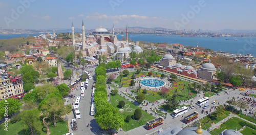 Printed kitchen splashbacks Turkey Aerial view of Sultanahmet Square in Istanbul