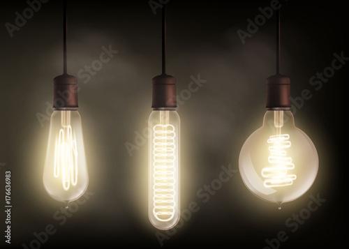 Photo  spiral light bulb