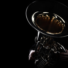 Tuba Brass Instrument. Wind Mu...
